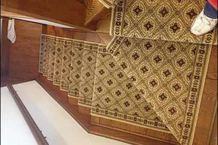 Custom carpeted stairs